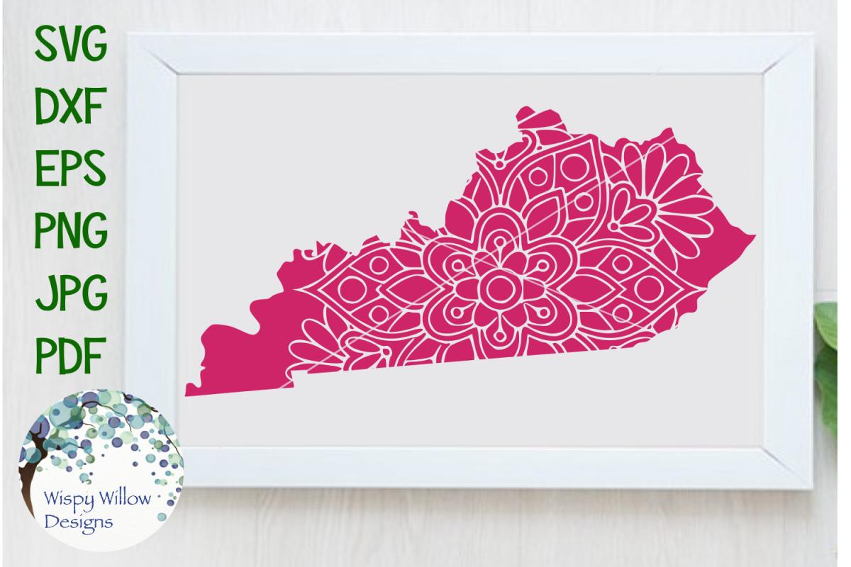 Kentucky State Mandala SVG Cut File example image 1