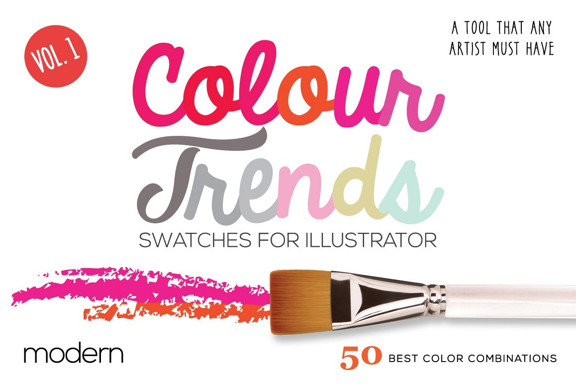 Colour Trends Modern Swatches Vol1 example image 1