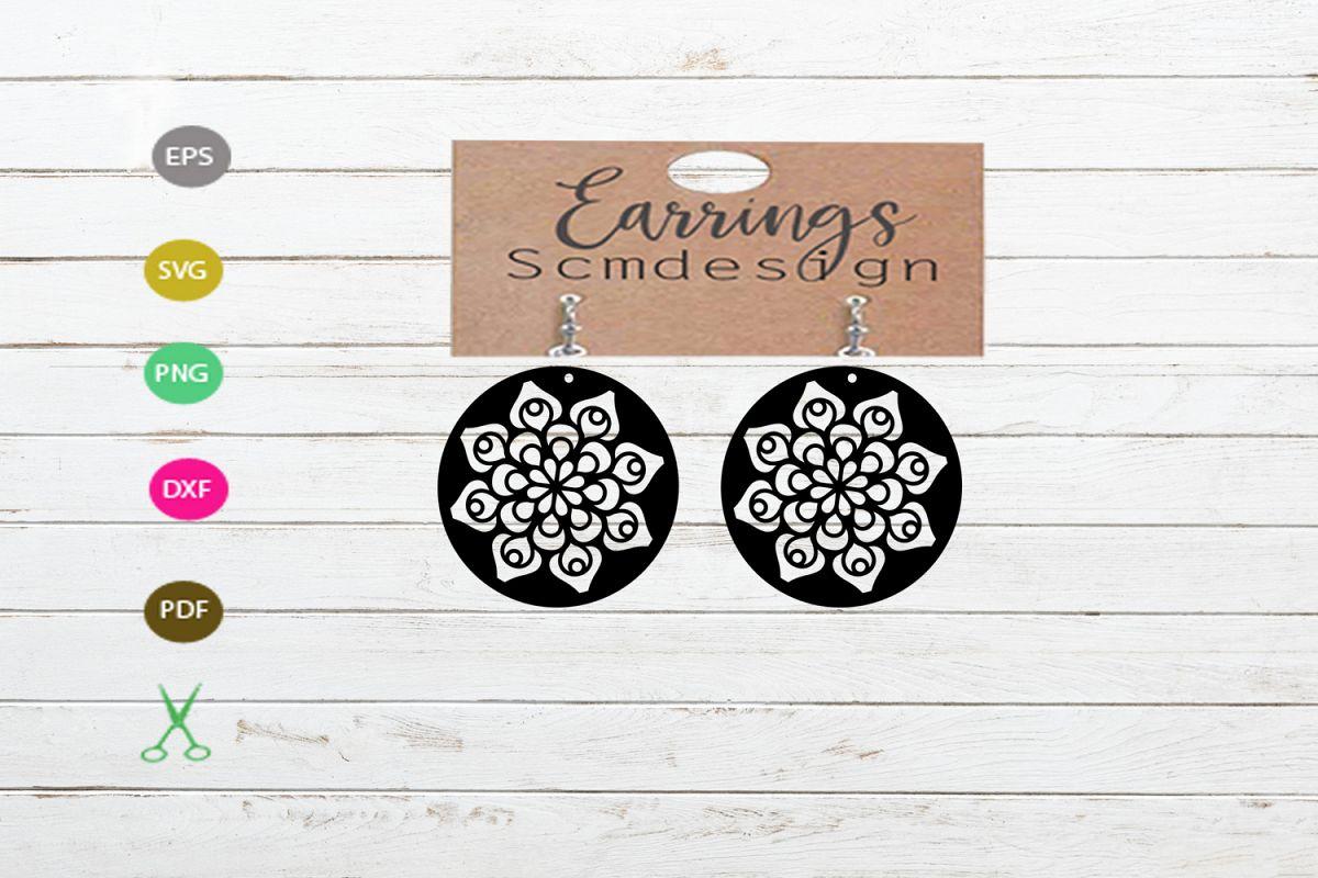 Earrings SVG,earrings template earrings cut file, earrings example image 1