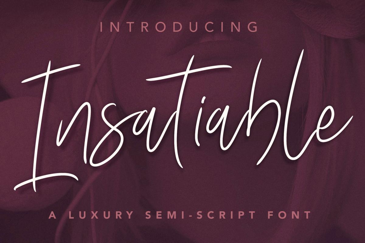 Insatiable Script Font example image 1