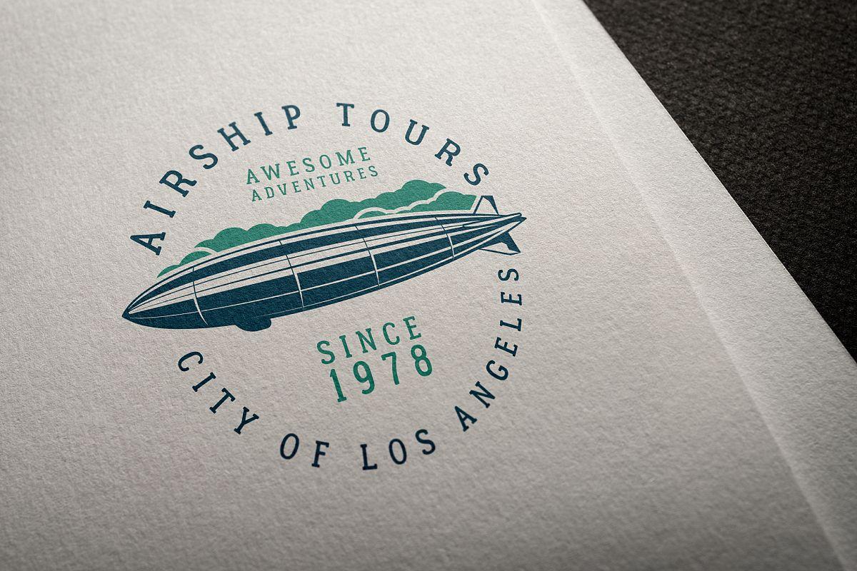 Airship Tours Logo Template example image 1