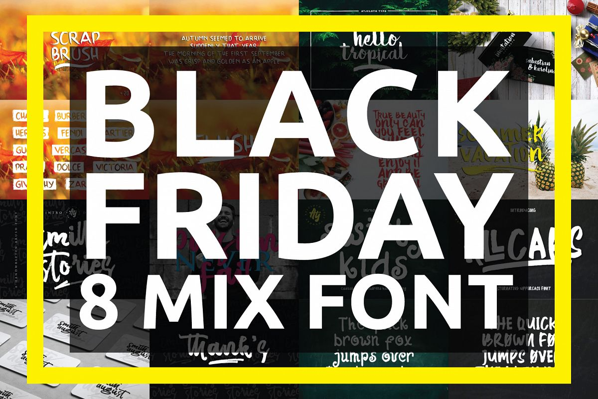 BLACK FRIDAY - 8 MIX FONT example image 1