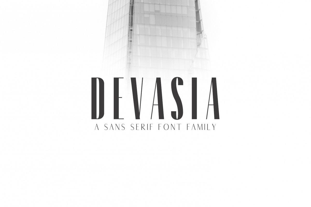 Devasia Sans Serif Font Family Pack example image 1