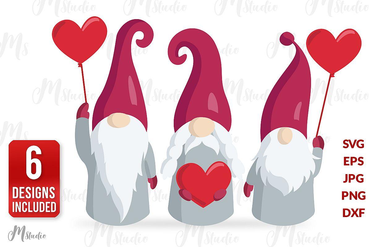 Valentine Gnomes Svg . V2 example image 1
