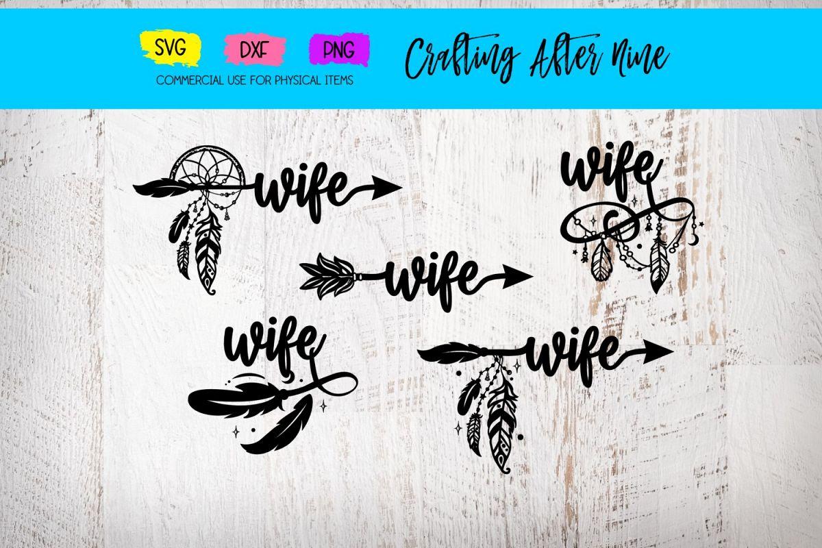 Wife Arrow Bundle, Feather Arrow Clipart, Quote Arrows