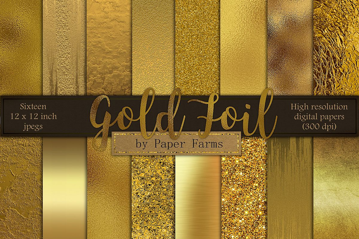 Gold foil textures example image 1