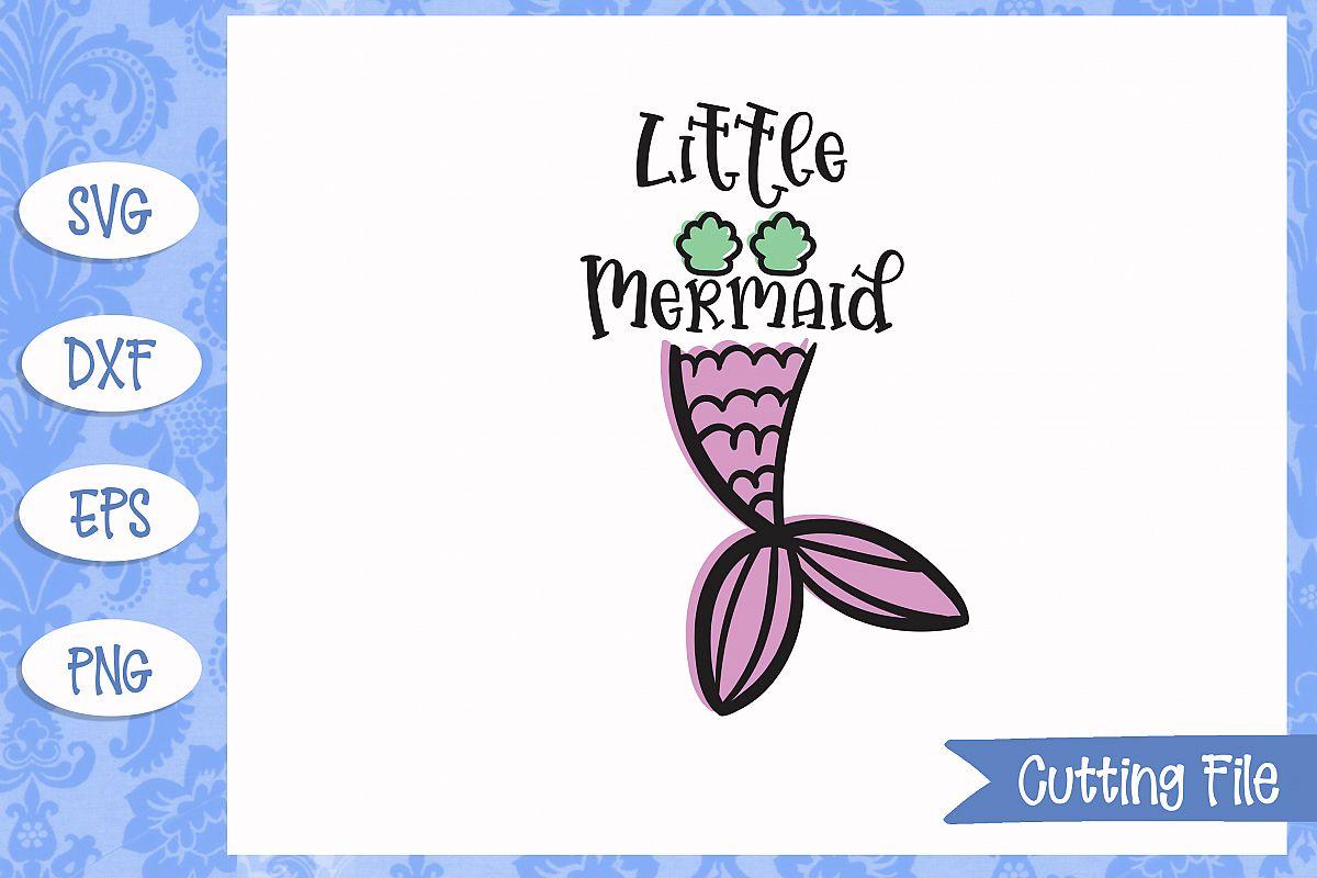 Little mermaid, Mermaid SVG File example image 1