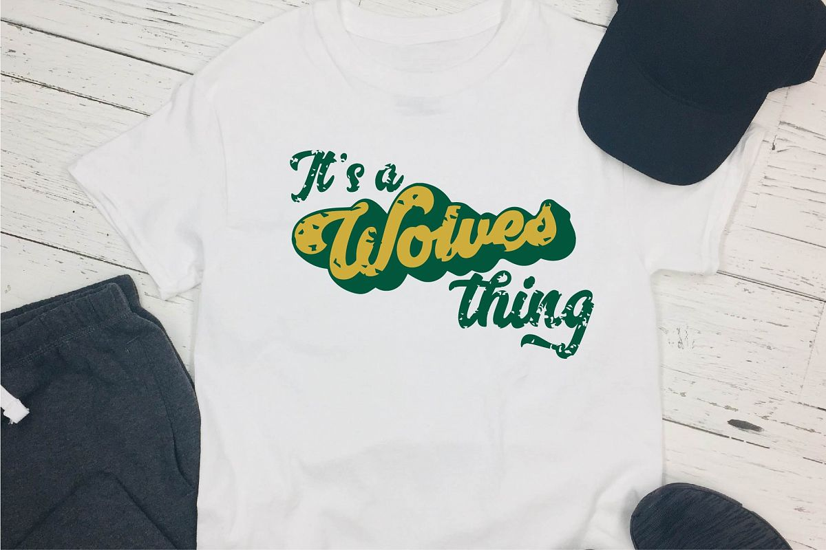 Sports SVG, It's A Wolves Thing SVG, Sports Sublimation example image 1