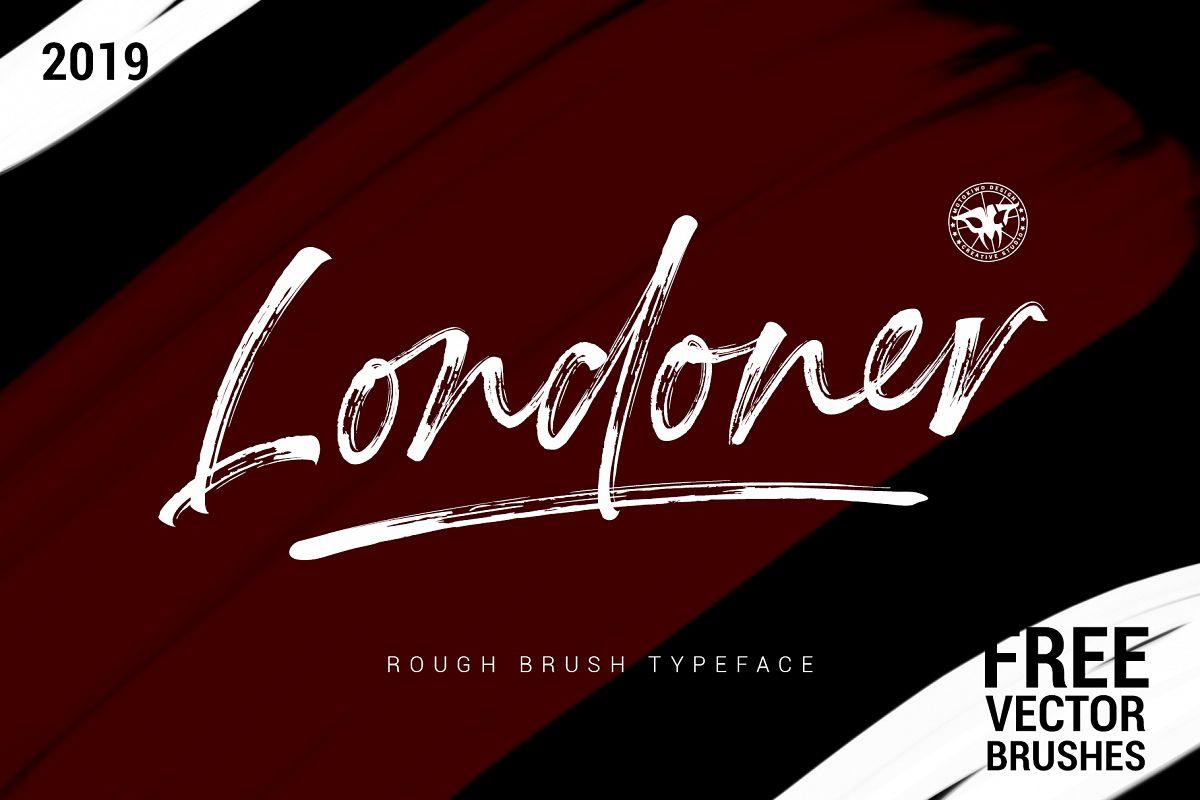 Londoner - Handwritten Rough Brush with Bonus example image 1