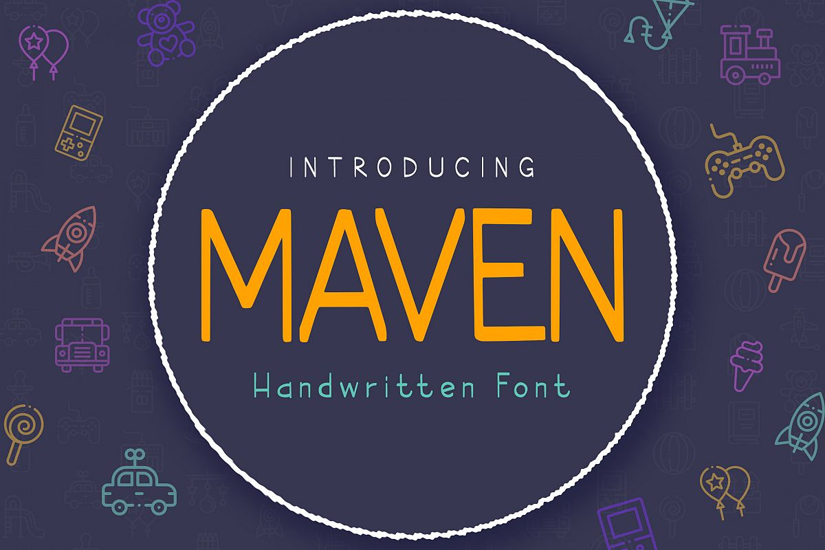 Maven Font example image 1