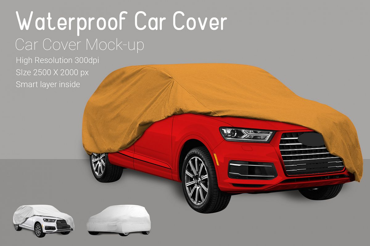 Car Cover Mock-Up example image 1