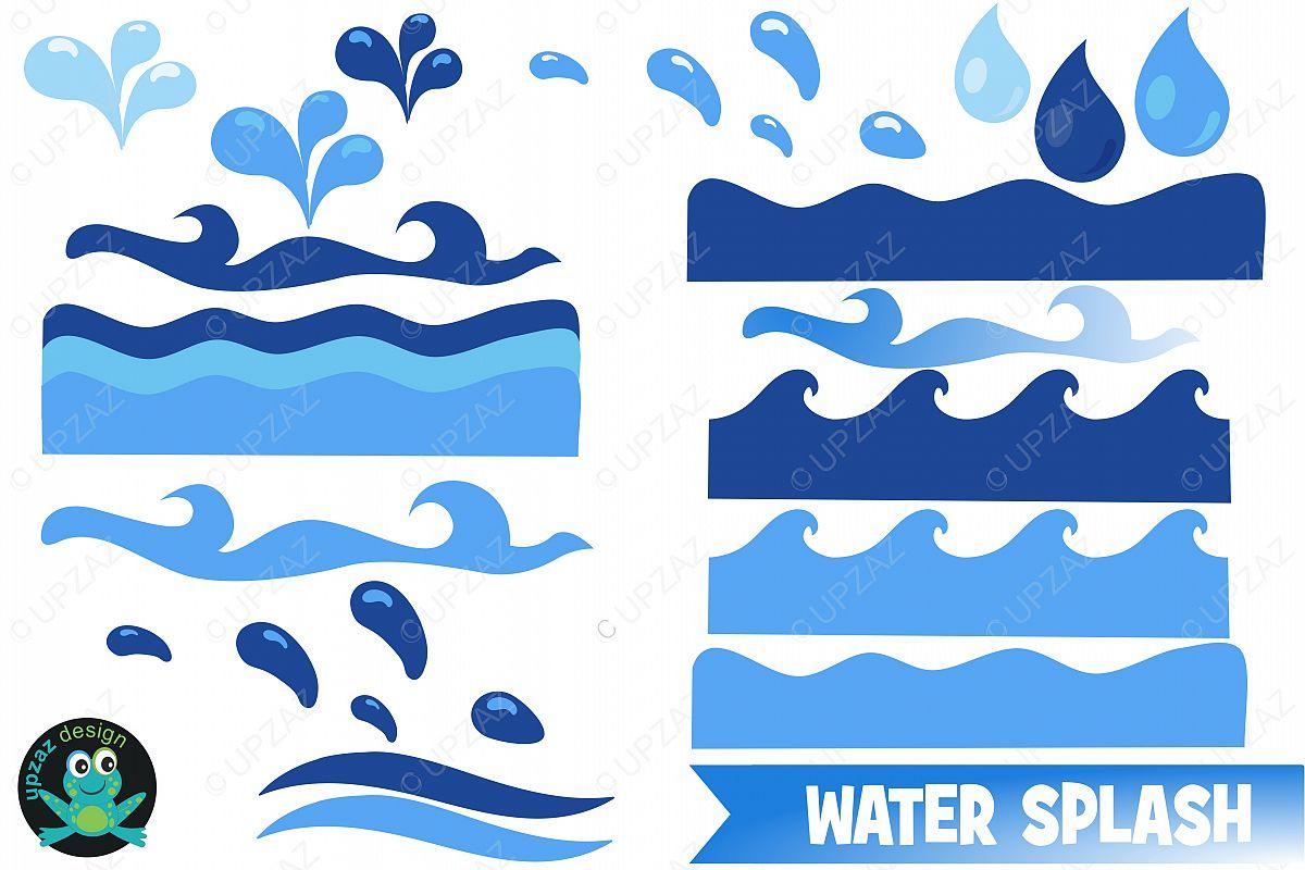 water waves clipart by upzaz design bundles rh designbundles net water waves clipart water waves images clip art