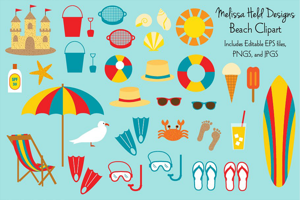 Beach Clipart example image 1