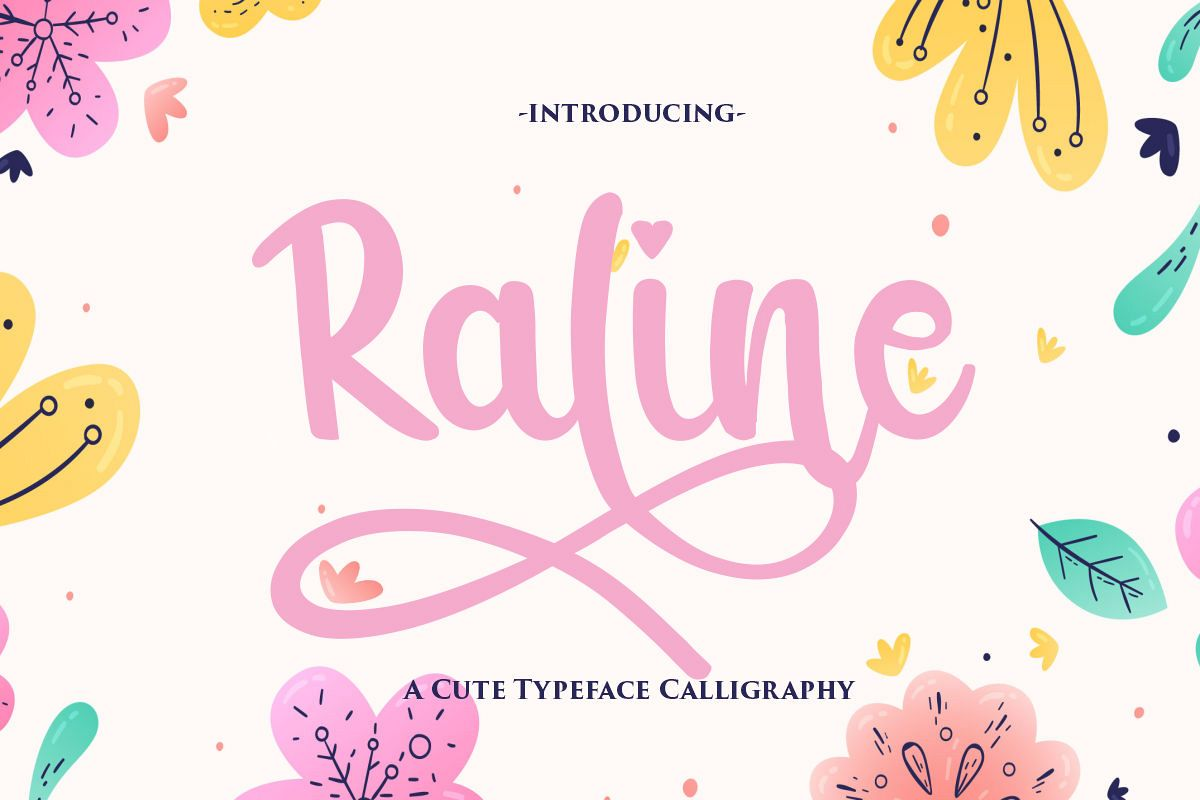 Raline | A New Calligraphy Modern Script example image 1