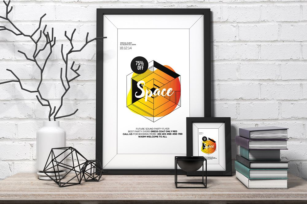 Space Futuristic Flyer Template example image 1