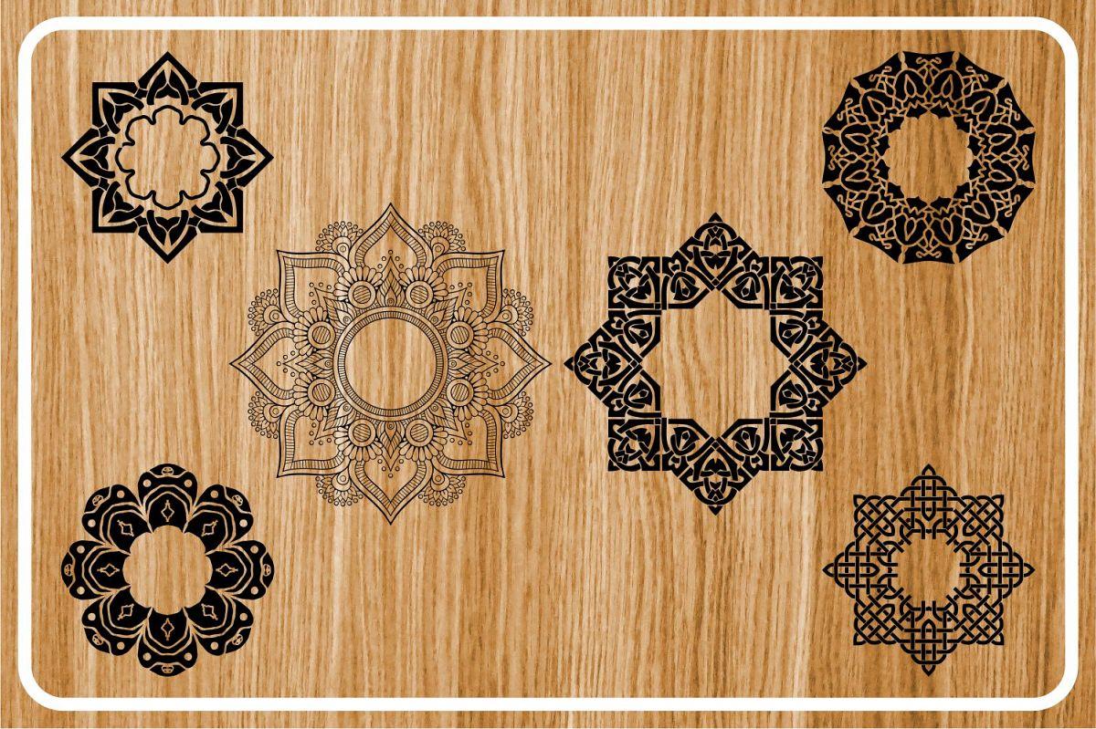 monogram mandala, monogram, monogram svg, mandala svg example image 1