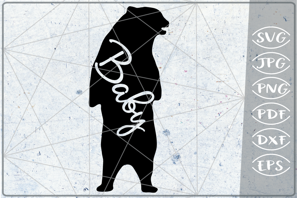 Baby Bear SVG Cutting File Mother's Day svg png cricut files example image 1