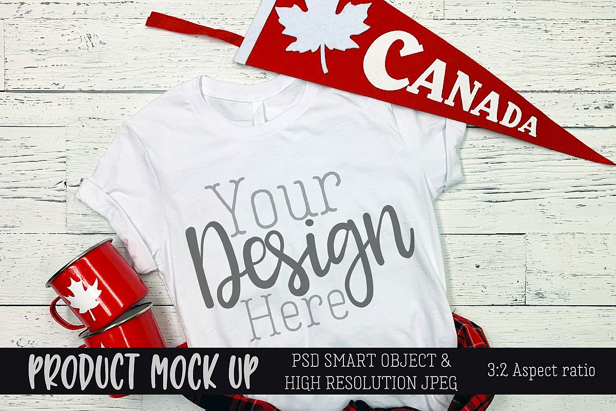 Canada Day shirt Craft mock up | PSD & JPEG example image 1