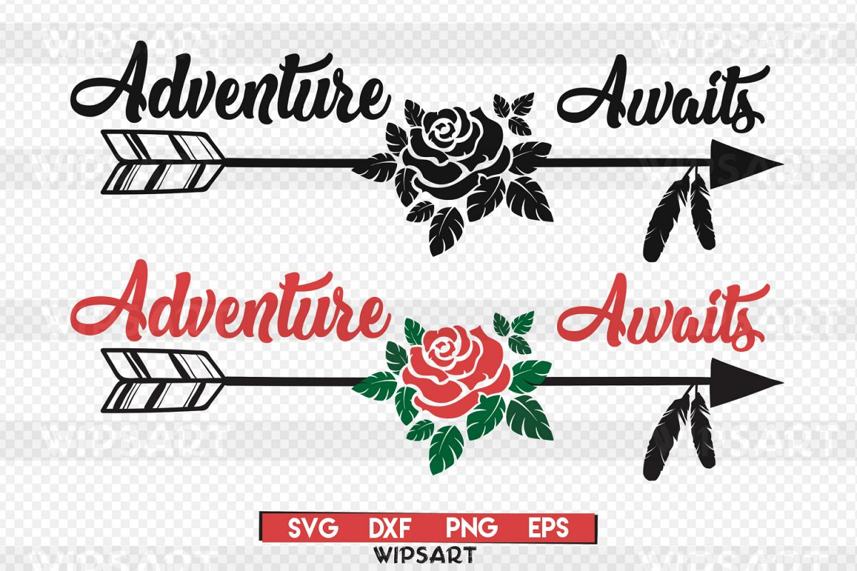 SALE! Adventure awaits svg, Adventure awaits silhouette example image 1