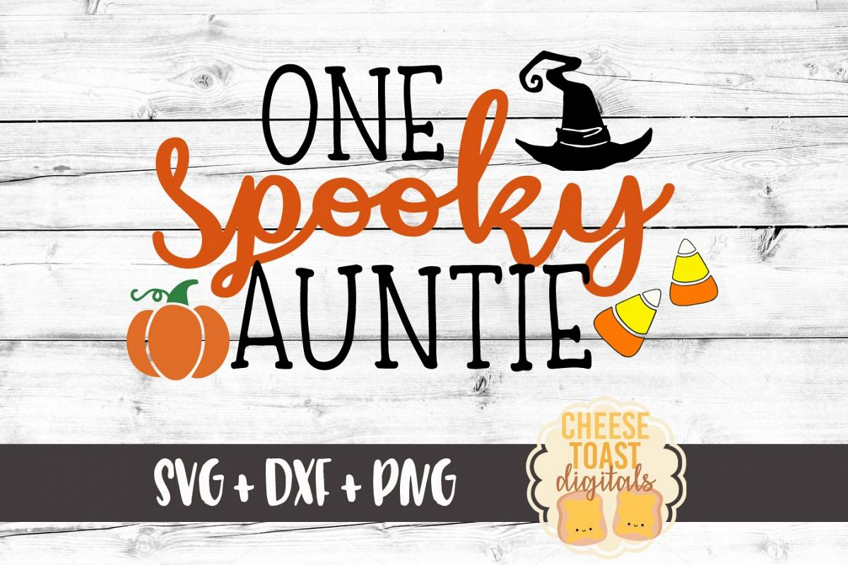 One Spooky Auntie Halloween Svg File 113489 Svgs Design Bundles