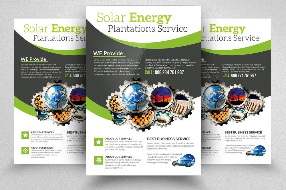 Renewable Energy Source - Go Green Flyer example image 1