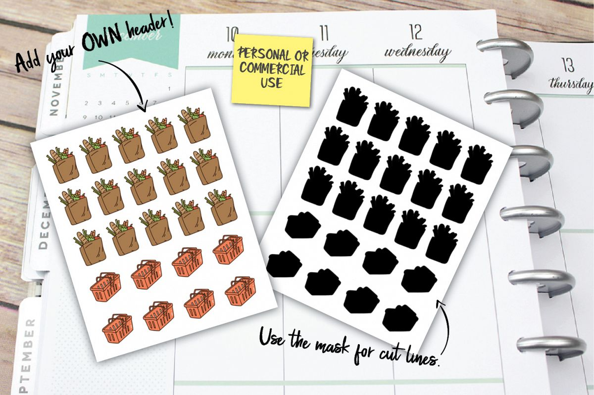 Grocery Shopping Planner Stickers example image 1