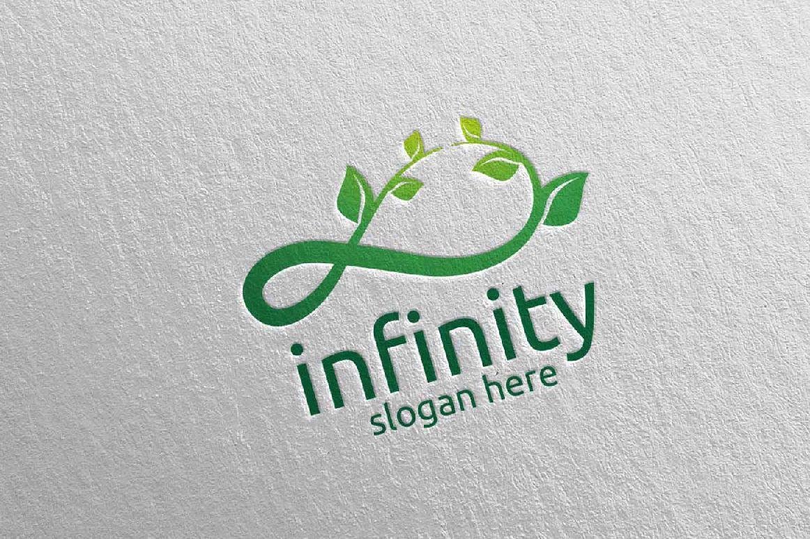 Green Infinity loop logo Design 33 example image 1