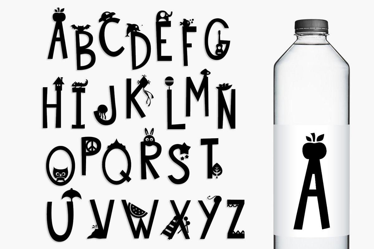 Monogram Alphabet Letters Graphics Illustration example image 1