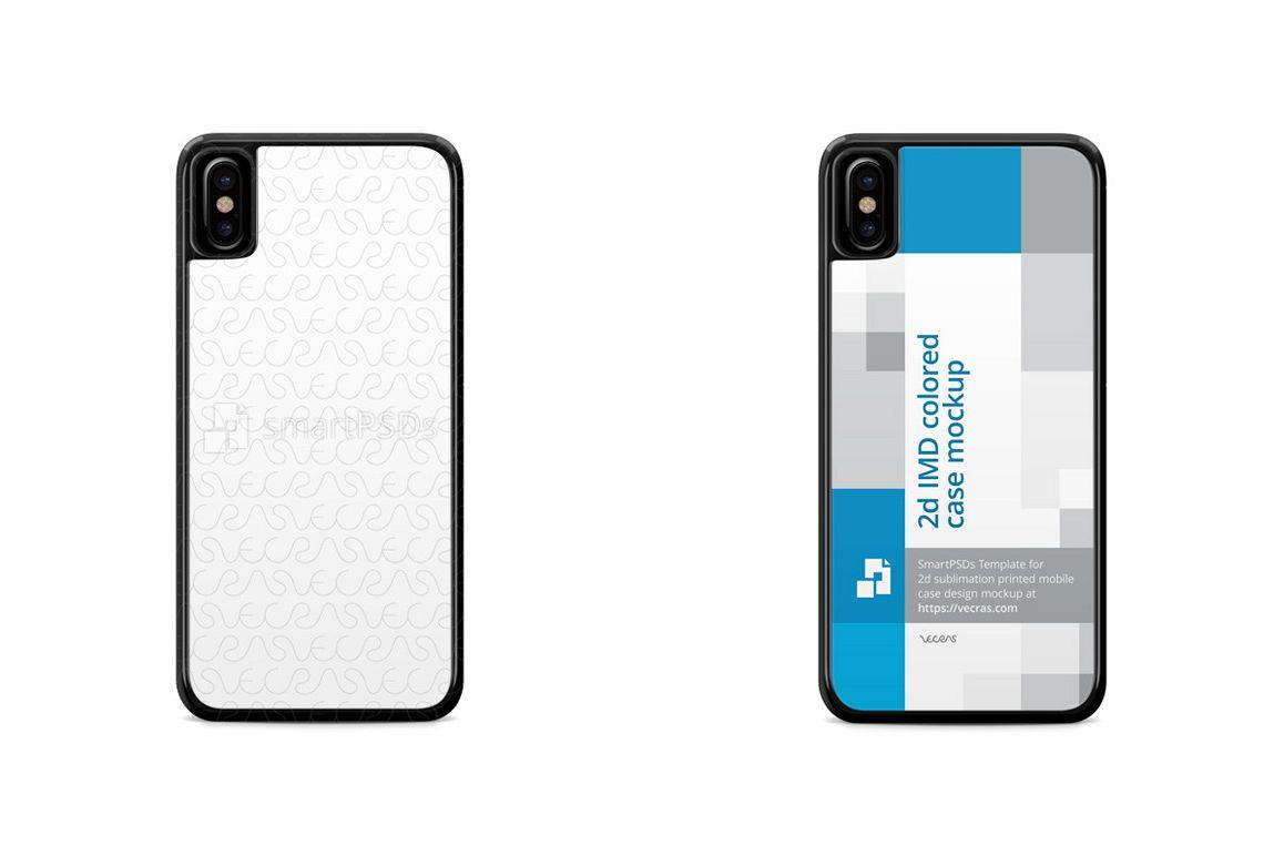 Apple Iphone 8 2d Imd Colored Mobile Case Design Mockup 2017