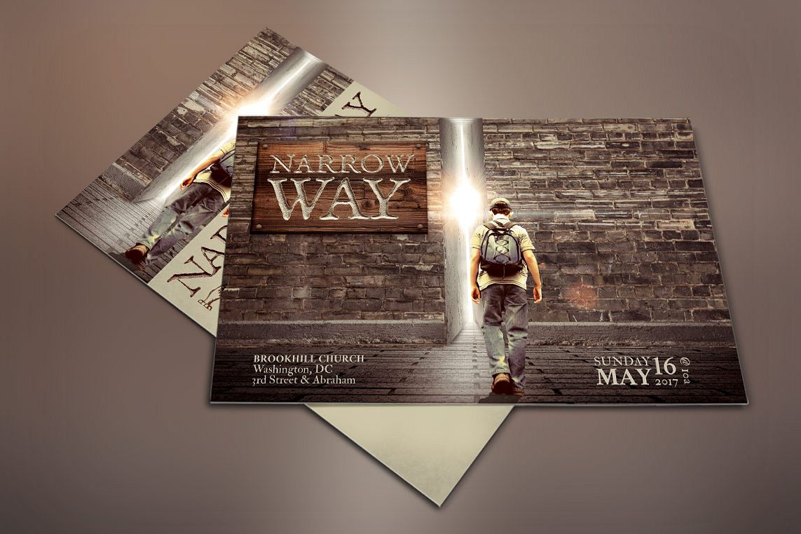 Narrow Way Flyer Poster Template example image 1
