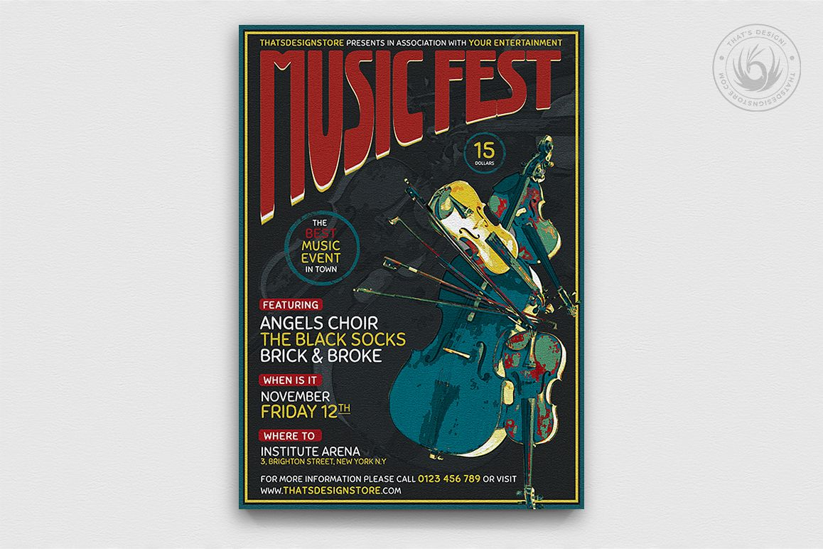 Music Festival Flyer Template V6 example image 1