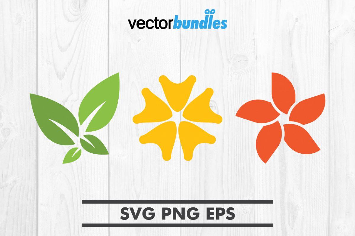 Plumeria flower clip art svg example image 1