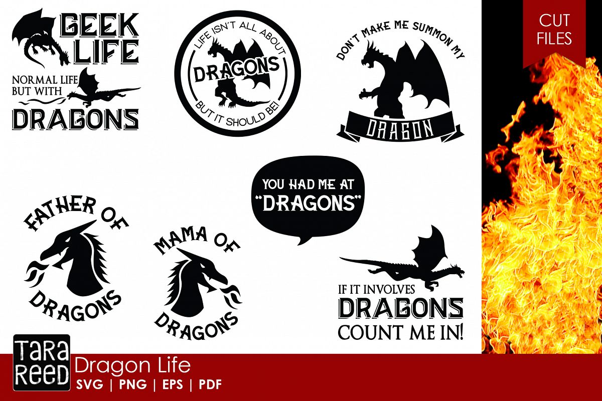 Dragon Life - Dragon SVG and Cut Files for Crafters example image 1