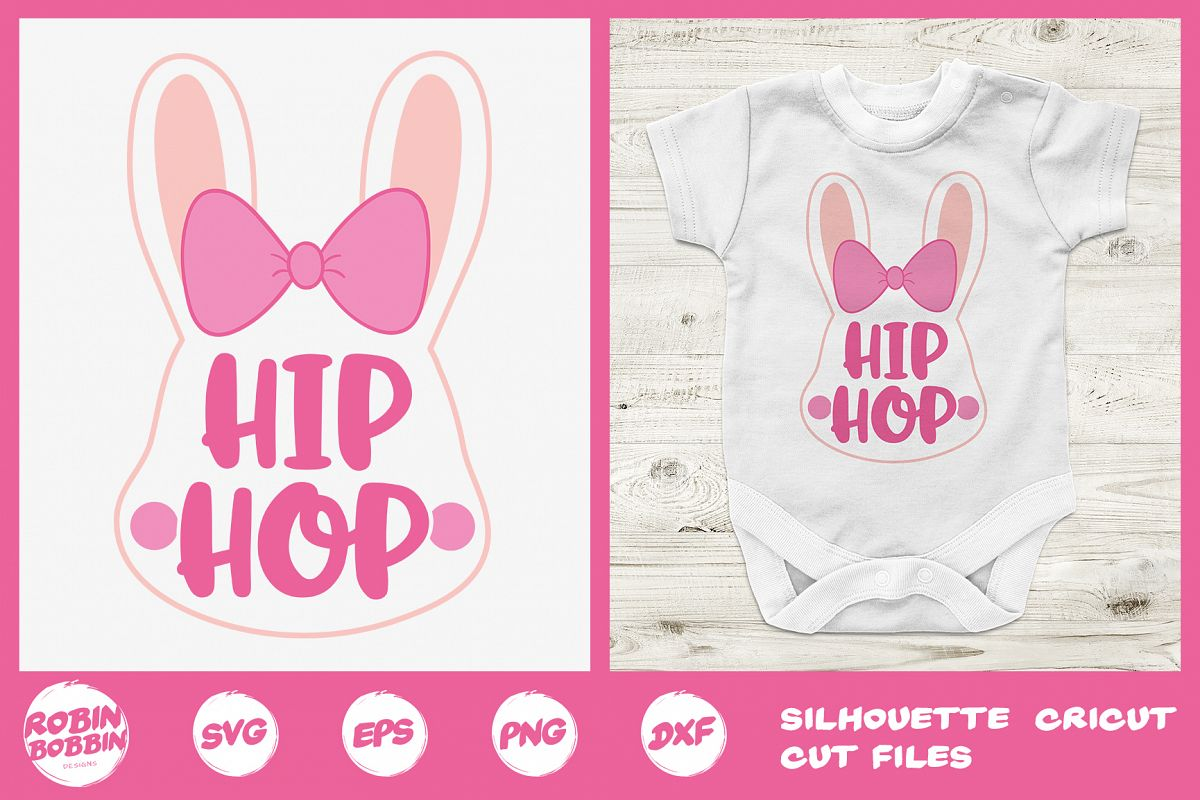Easter svg, Hip Hop Easter Bunny Girl svg, Baby Easter svg example image 1