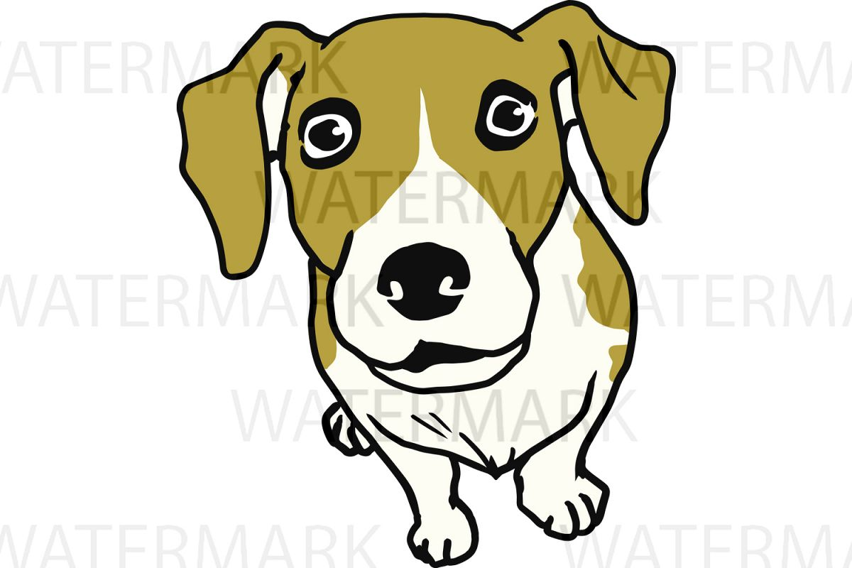 Cute Dogs D Color - SVG/JPG/PNG Hand Drawing example image 1