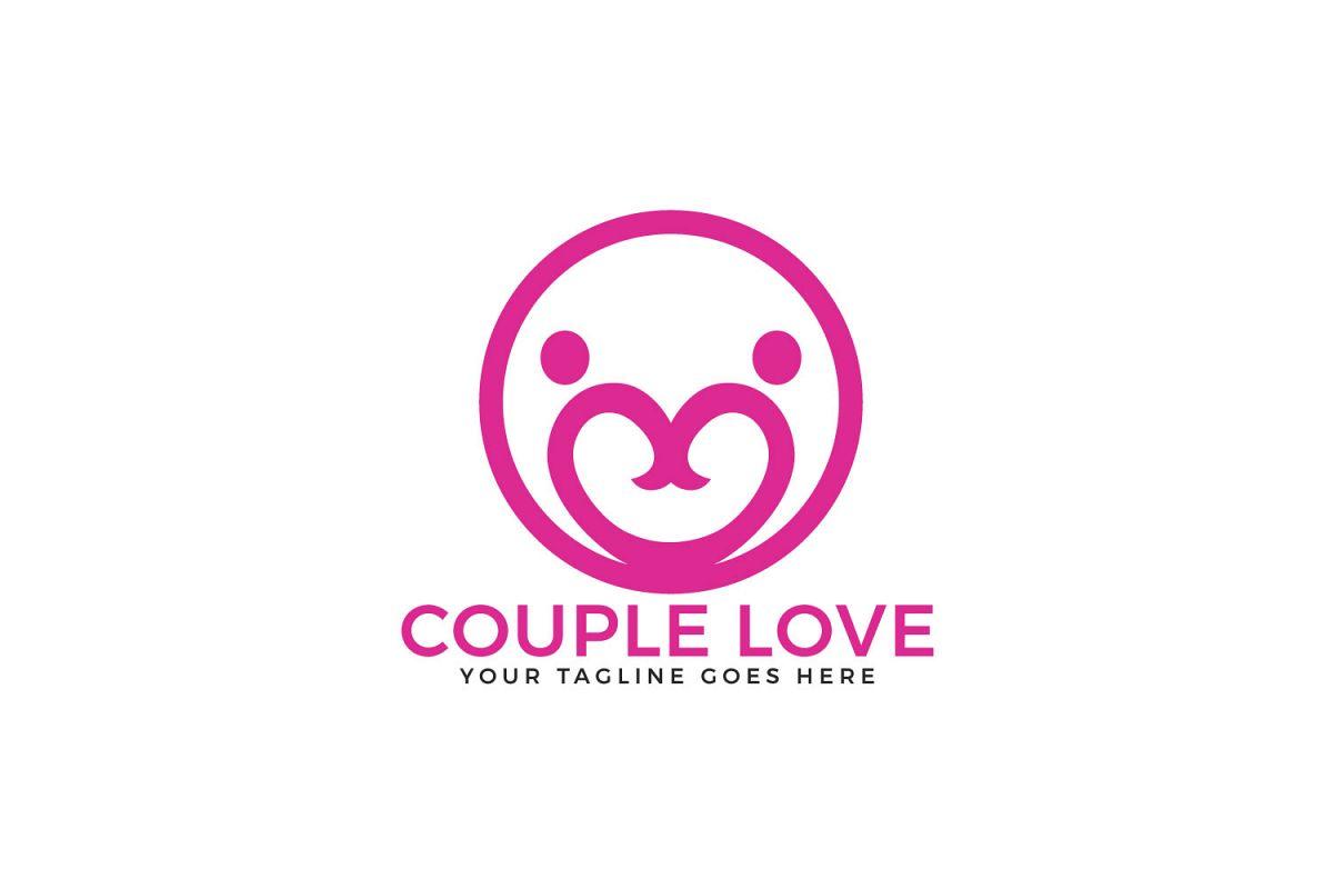 Couple Love Vector Logo Design. example image 1