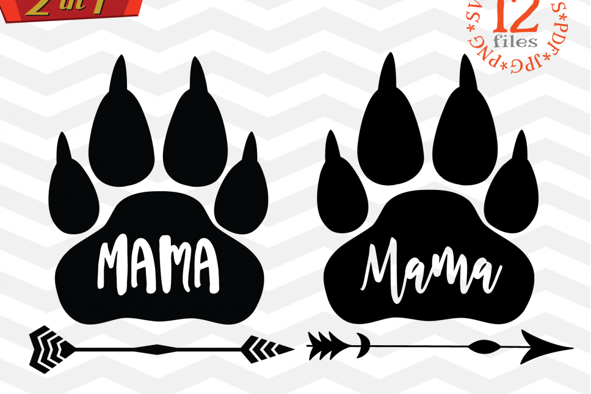 Mama bear paw svg - Mama bear SVG digital - Mama Bear example image 1