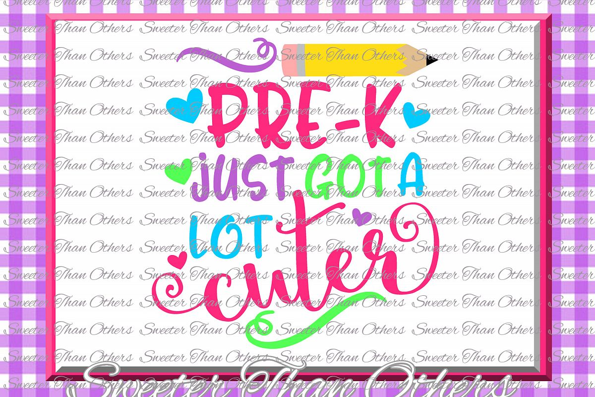 Pre K Cuter SVG Pre Kindergarten cut file Last Day of School example image 1