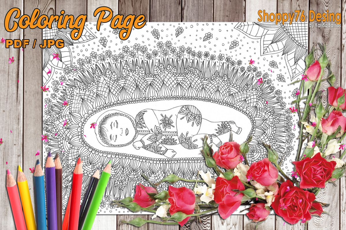 The girl that I was / coloring book page example image 1