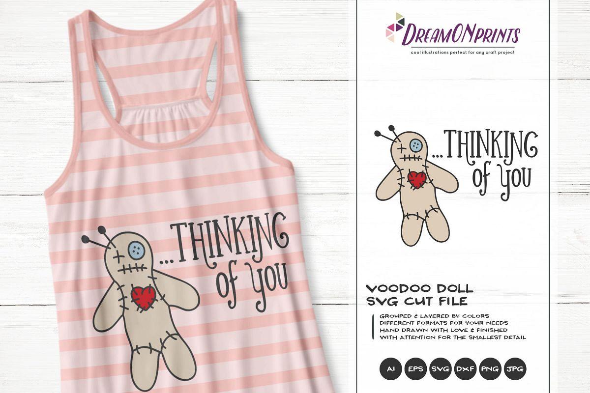 Voodoo Doll SVG SVG | Halloween SVG Cut File example image 1