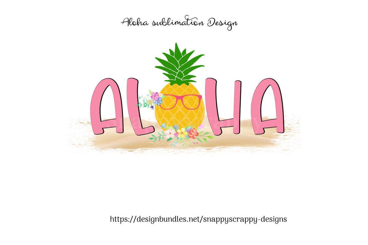 Aloha Sublimation Design example image 1
