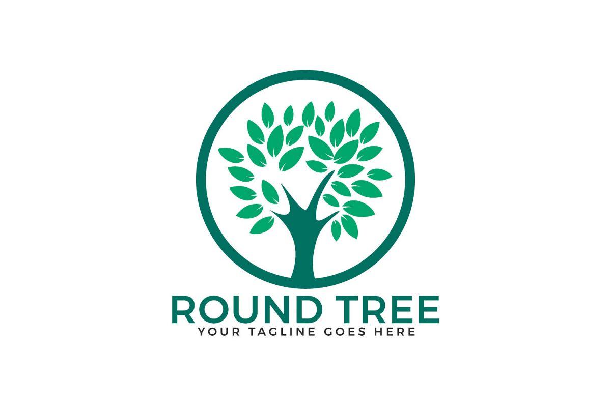 Round Tree Logo Design. example image 1