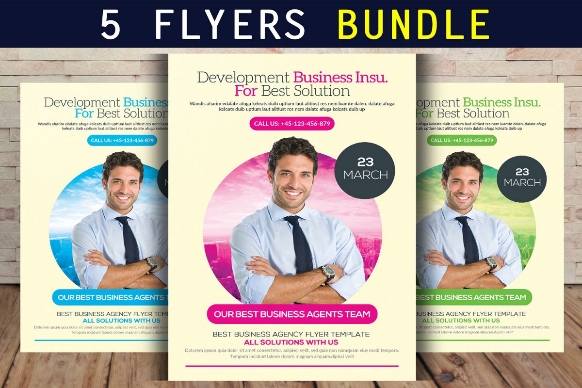 5 Business Flyer Bundle example image 1