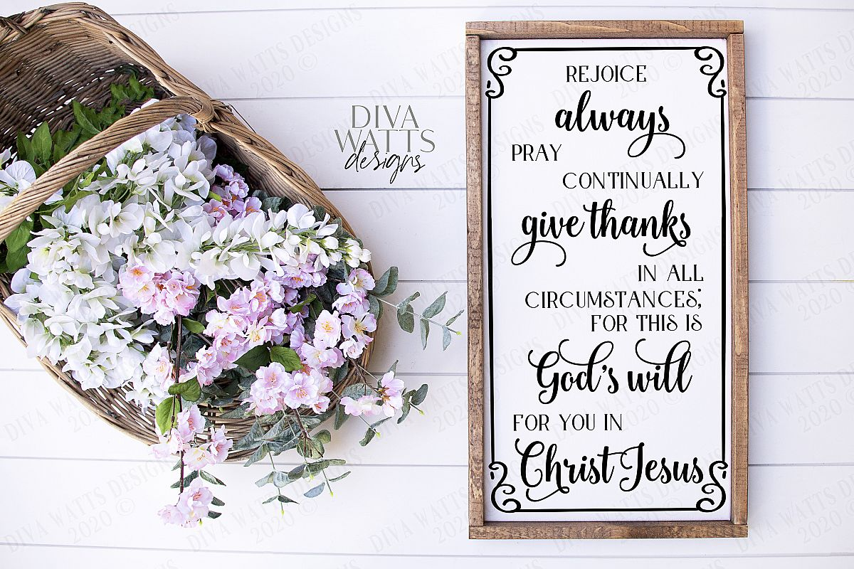 Rejoice Always Pray Continually Give Thanks God's Will Verse example image 1