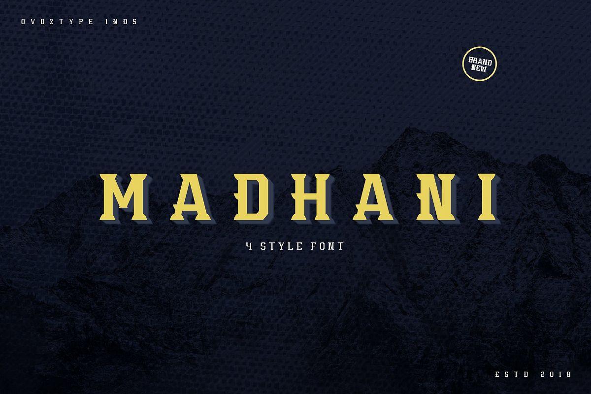 Madhani Font Family example image 1