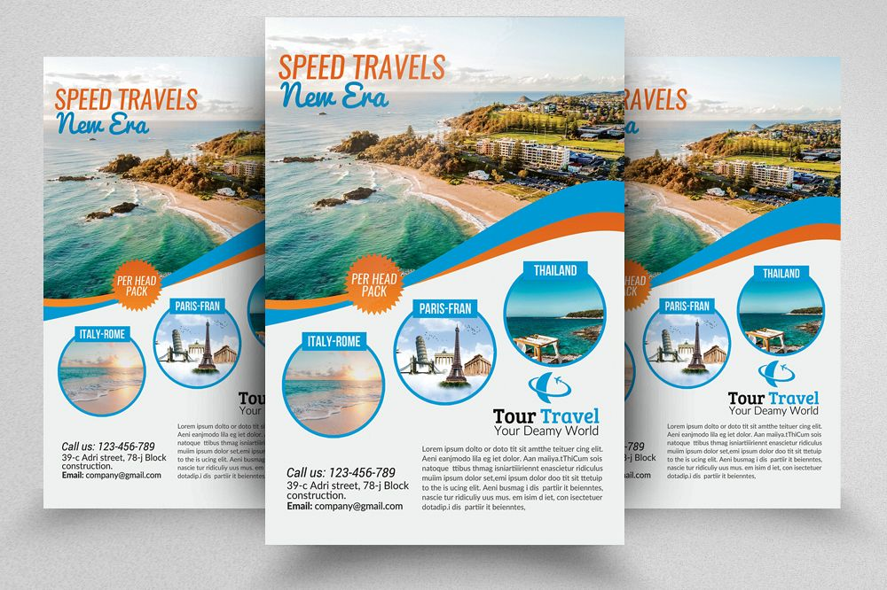 Tour & Travel Flyer Template example image 1