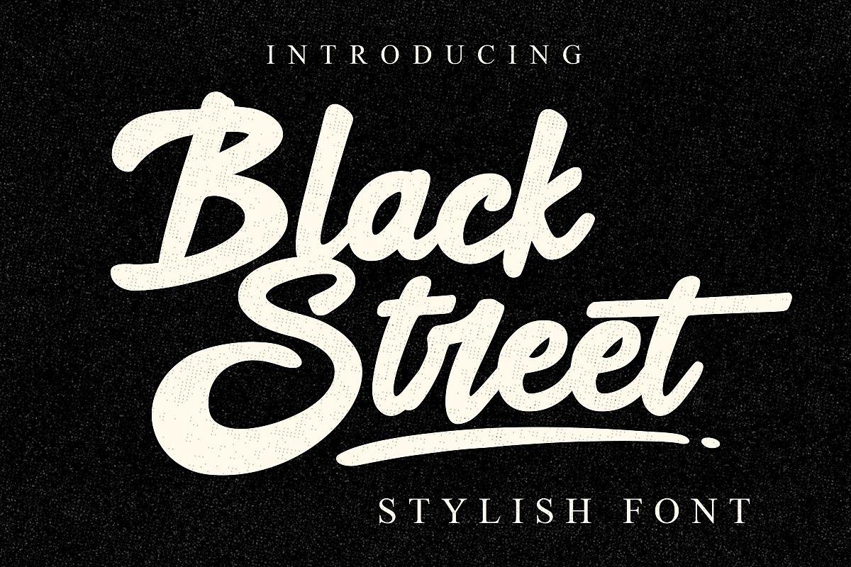 Black Street Font example image 1