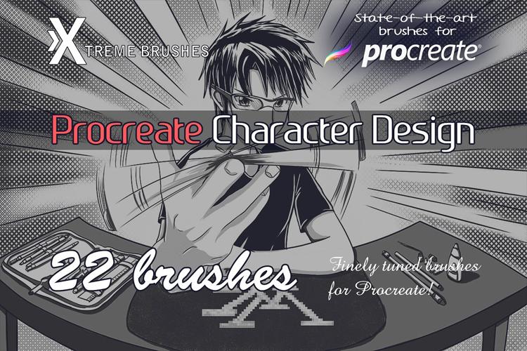Procreate Character Design Brushes example image 1