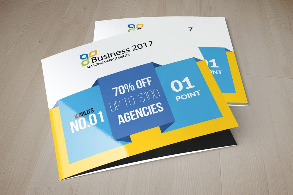 Business Solution Square Trifold Brochure example image 1