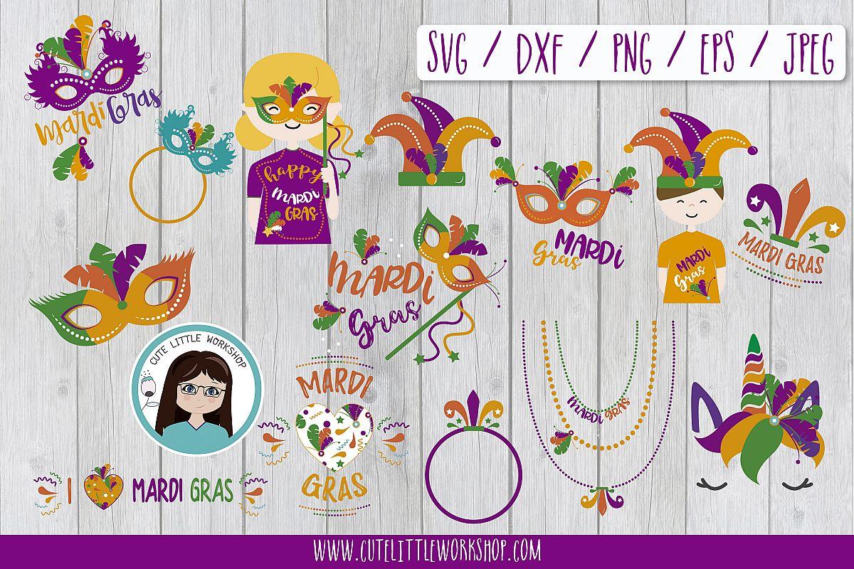 Mardi Gras SVG Bundle example image 1